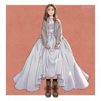 Alyssa in a wedding dress