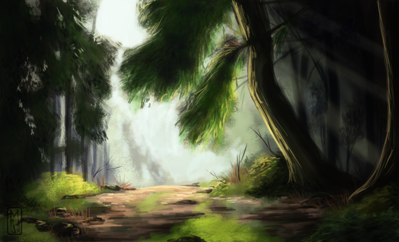 Forest Clearing by Mara-Elle on DeviantArt Anime Forest Clearing Background