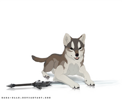 Great Gray Pup, Sif by Mara-Elle