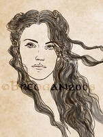 Luthien - Character Study by Breogan