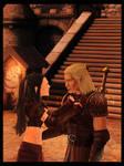 Dragon A. Commission - Zevran and Zeva I