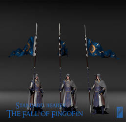Fingolfin Standard-Bearer 3D - Turnaround by Breogan