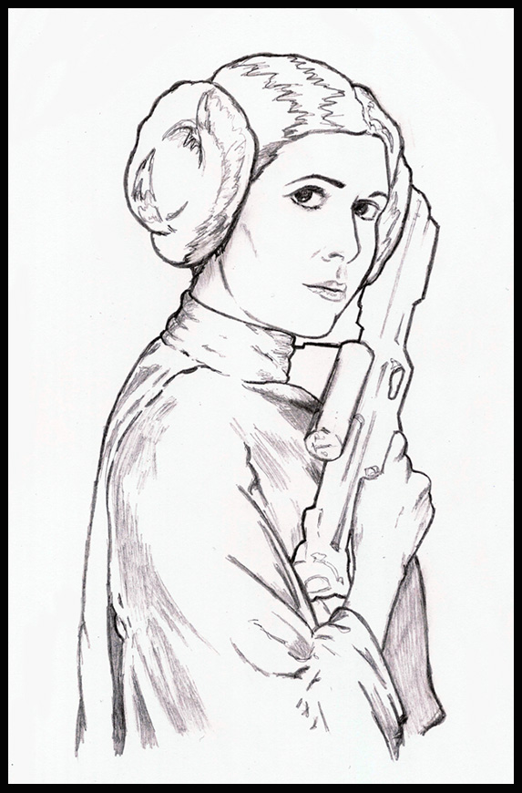 Sw project princess leia by breogan on deviantart for Princess leia coloring page
