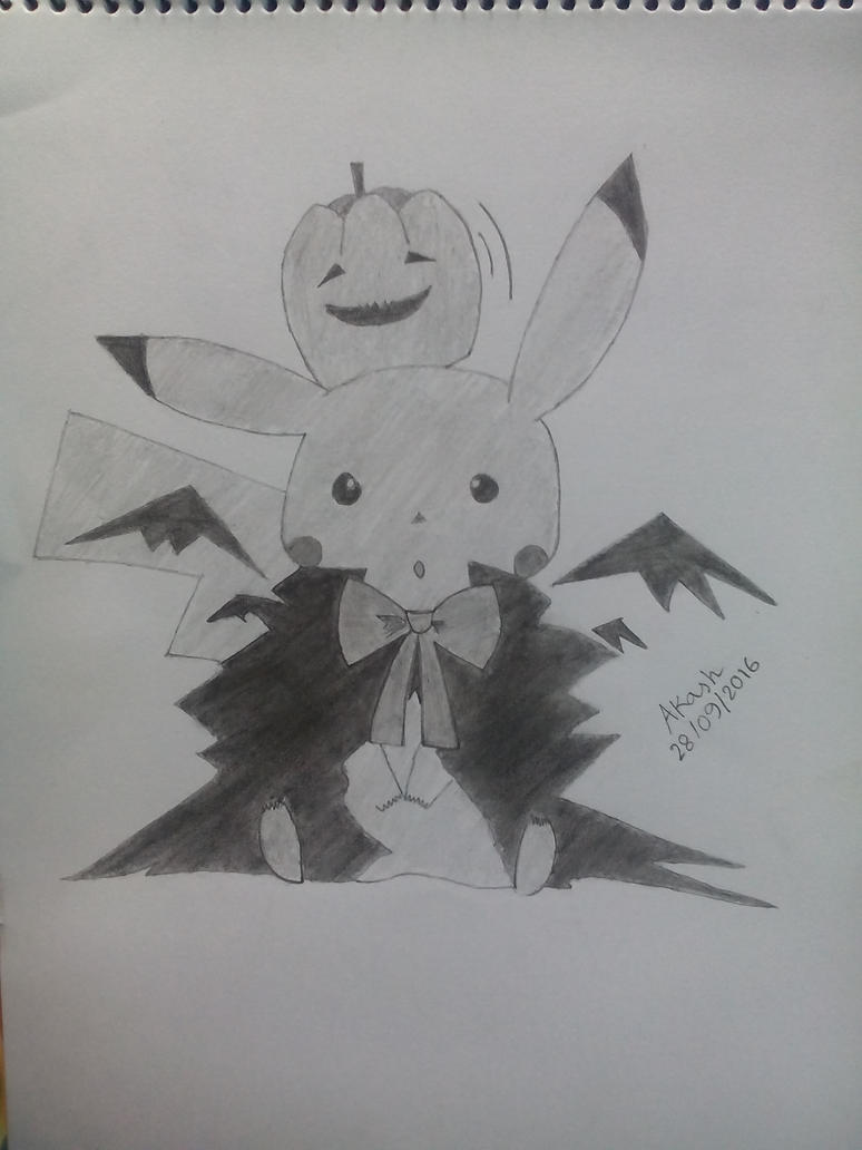 Pikachu (Halloween Outfit) by mskakash