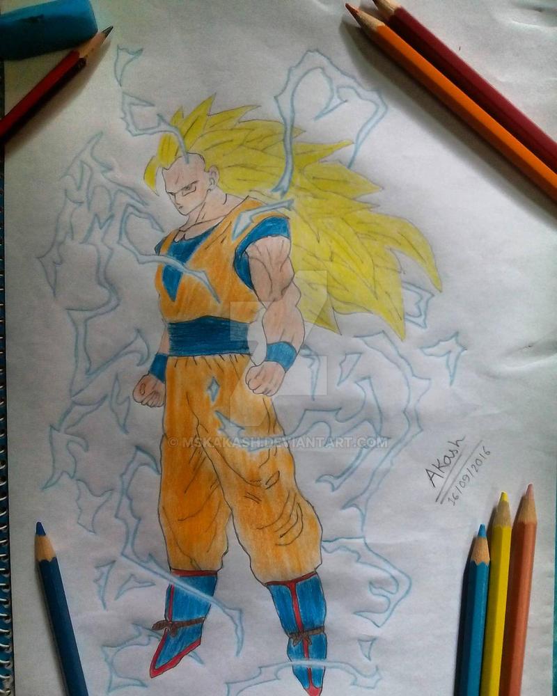 Goku Super Saiyan 3 by mskakash