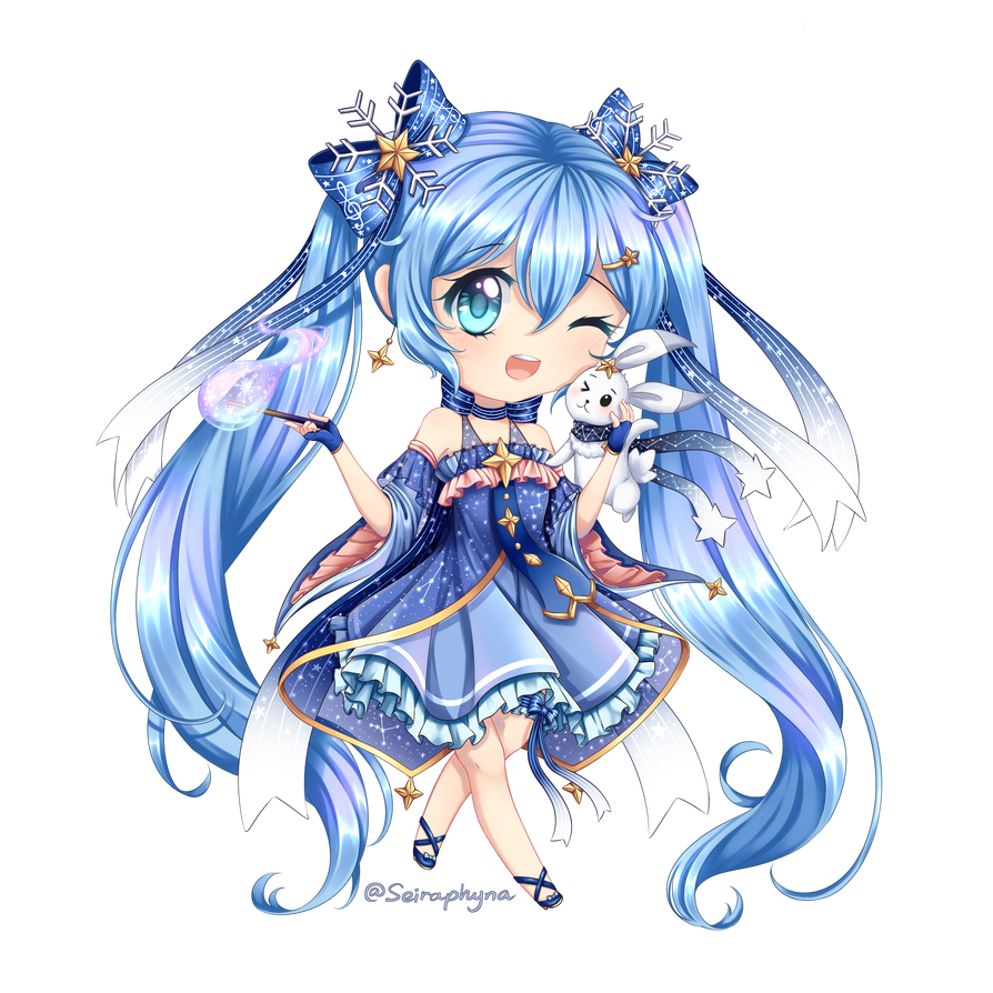 Chibi Winter Miku 2017 By Seiraphyna