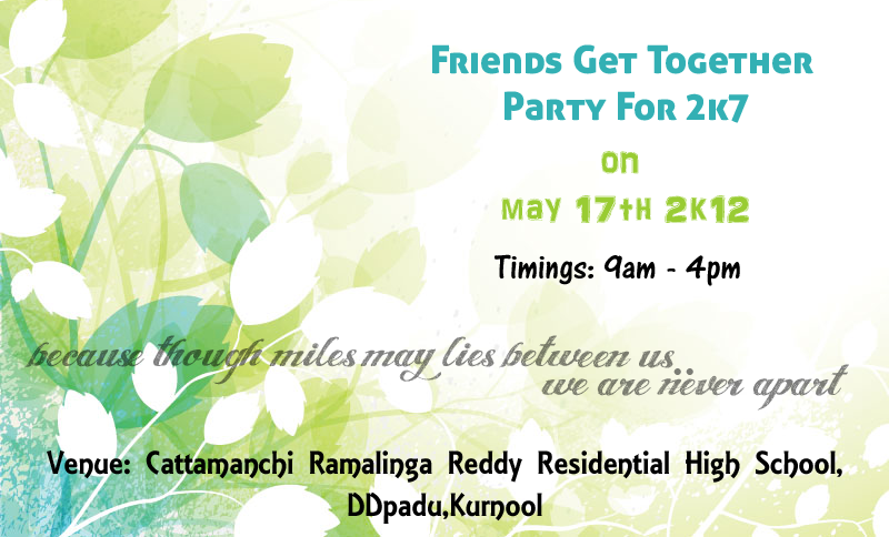 Doc974431 Invitation Card for Get Together Free Online Get – Invitation for a Get Together
