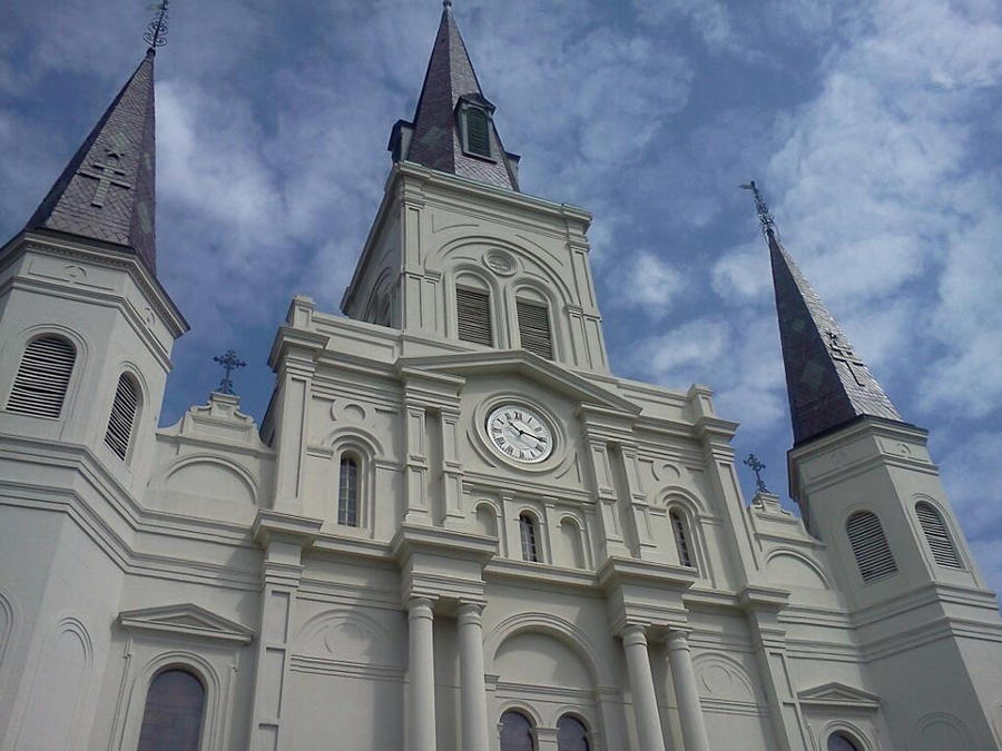 the saint louis cathedral new orleans louisiana by sabolin on