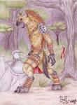 Werok Gnoll Warrior - Colour
