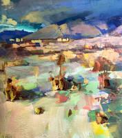 Albuquerque NM Gouache/Acrylic study