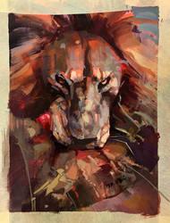 Lion Gouache Color Study