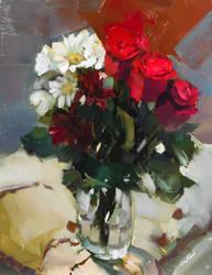 V-Day Flower Study