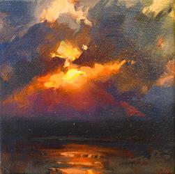 Okinawa Sunset Color Study IV