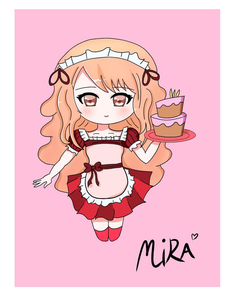 Chibi cake girl by Zidane017