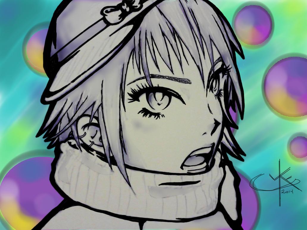 Anime Edit Blue Pen by kayl33n