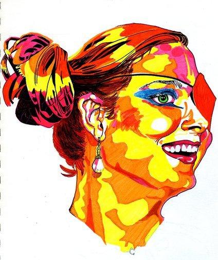 Emily Deschanel highlighter by Elleiancole
