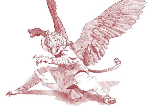 Line Art from Weretiger Monk