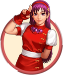 Athena Asamiya - KOF98 OL LOGO