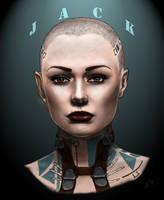 Mass Effect: Jack by Merwild