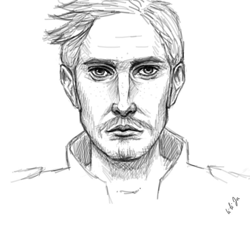 how to draw a real man sketch