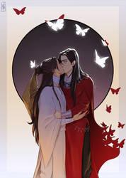 Kiss and butterflies