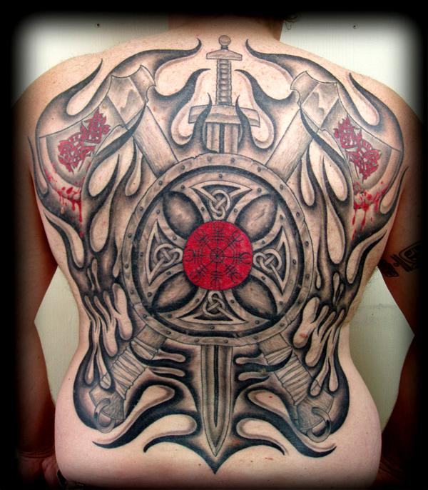 Viking back tattoo by full back tat on deviantart for Did vikings have tattoos