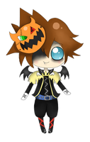 chibi halloween sora by Mizdreavus