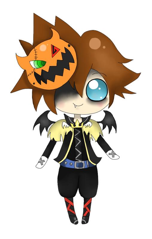 chibi halloween sora by Mizdreavus on DeviantArt