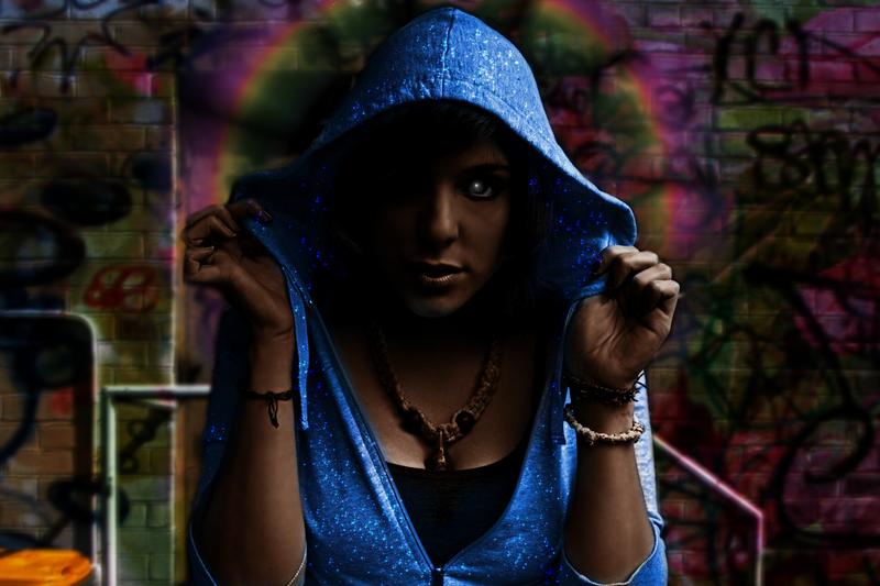 Blue _La Virgen_ by dagger3000