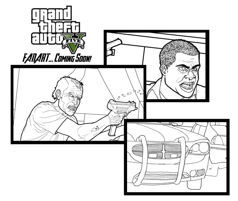 Gta 5 Fanart Teaser By Sasabralic On Deviantart Gta 5 Coloring Pages