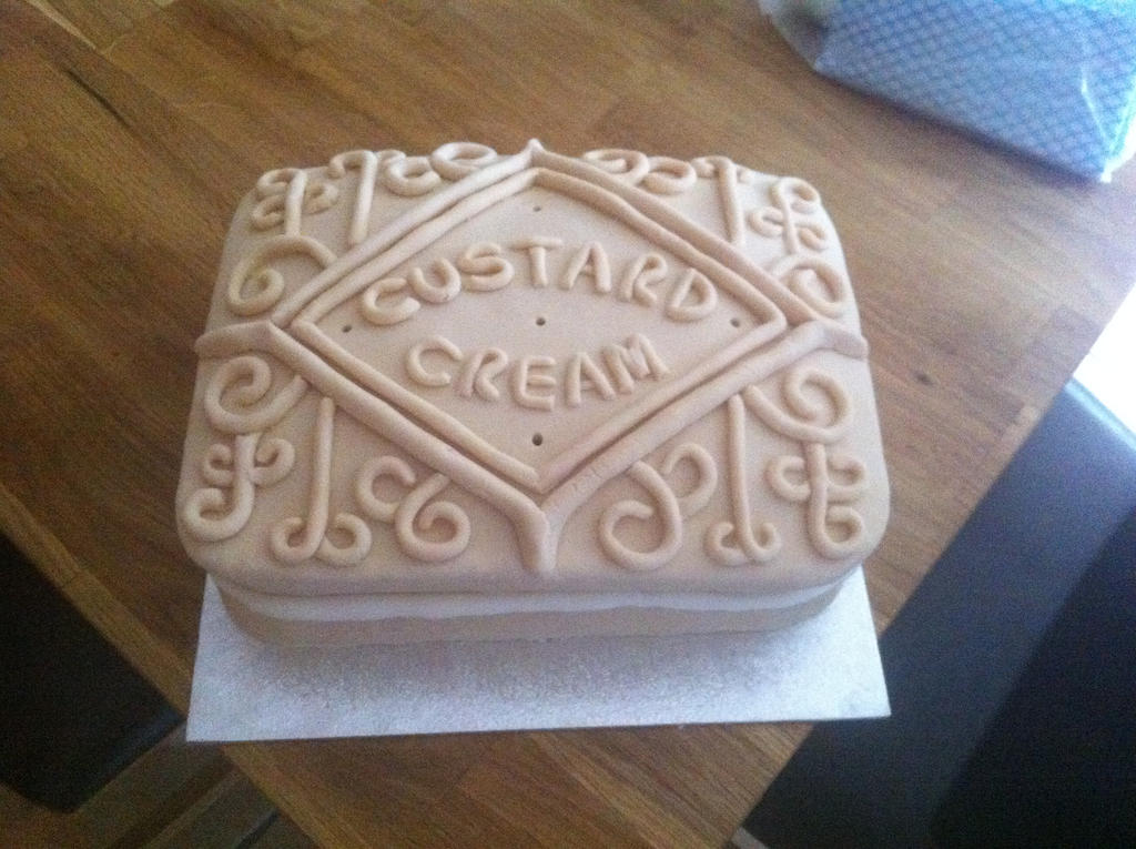 Custard Cream Birthday Cake by Stacey2512