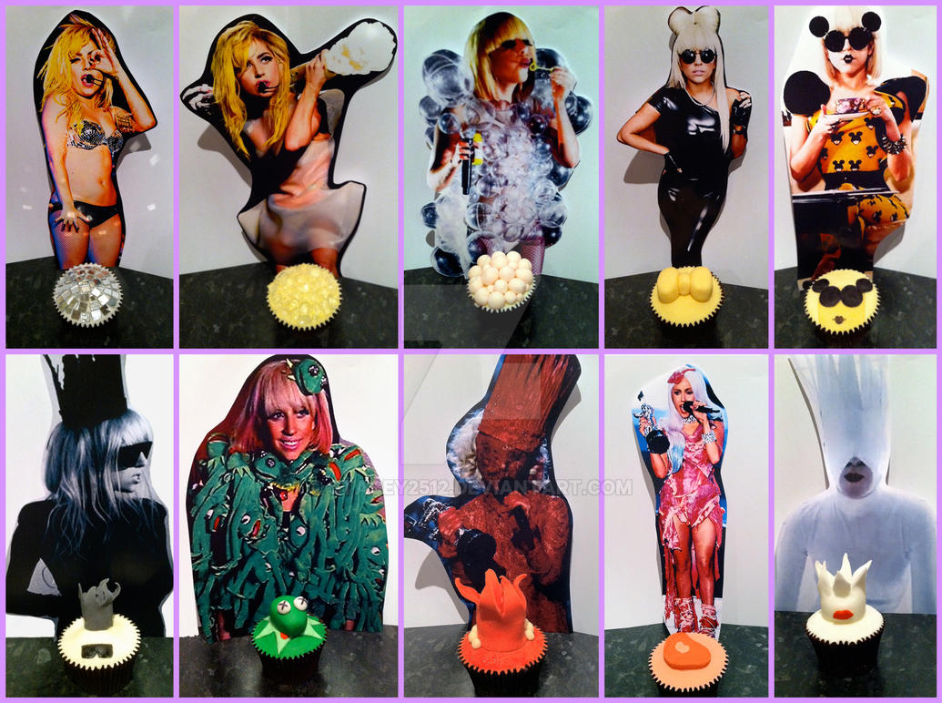 Lady Gaga Cupcakes by Stacey2512