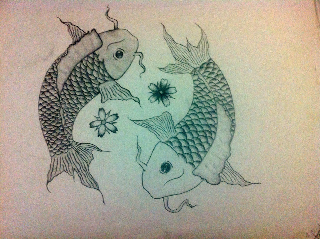 Yin yang koi fish by sheryylannee on deviantart for Koi fish yin yang tattoo