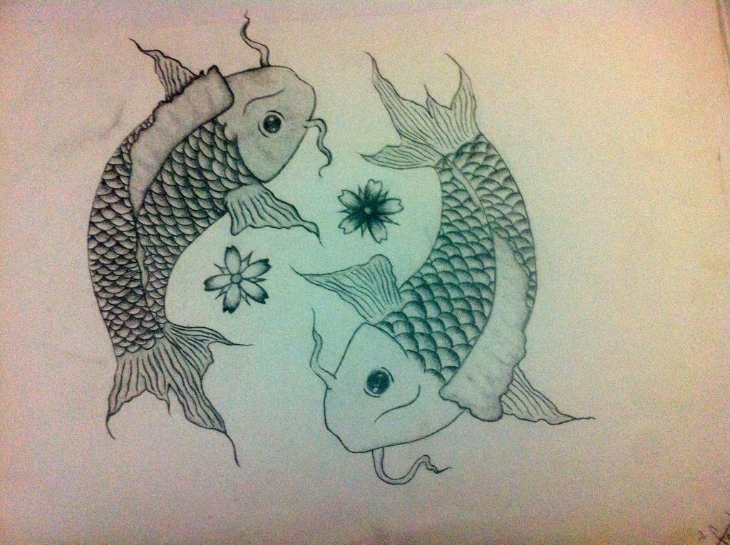 Yin yang koi fish by sheryylannee on deviantart for Koi fish yin yang