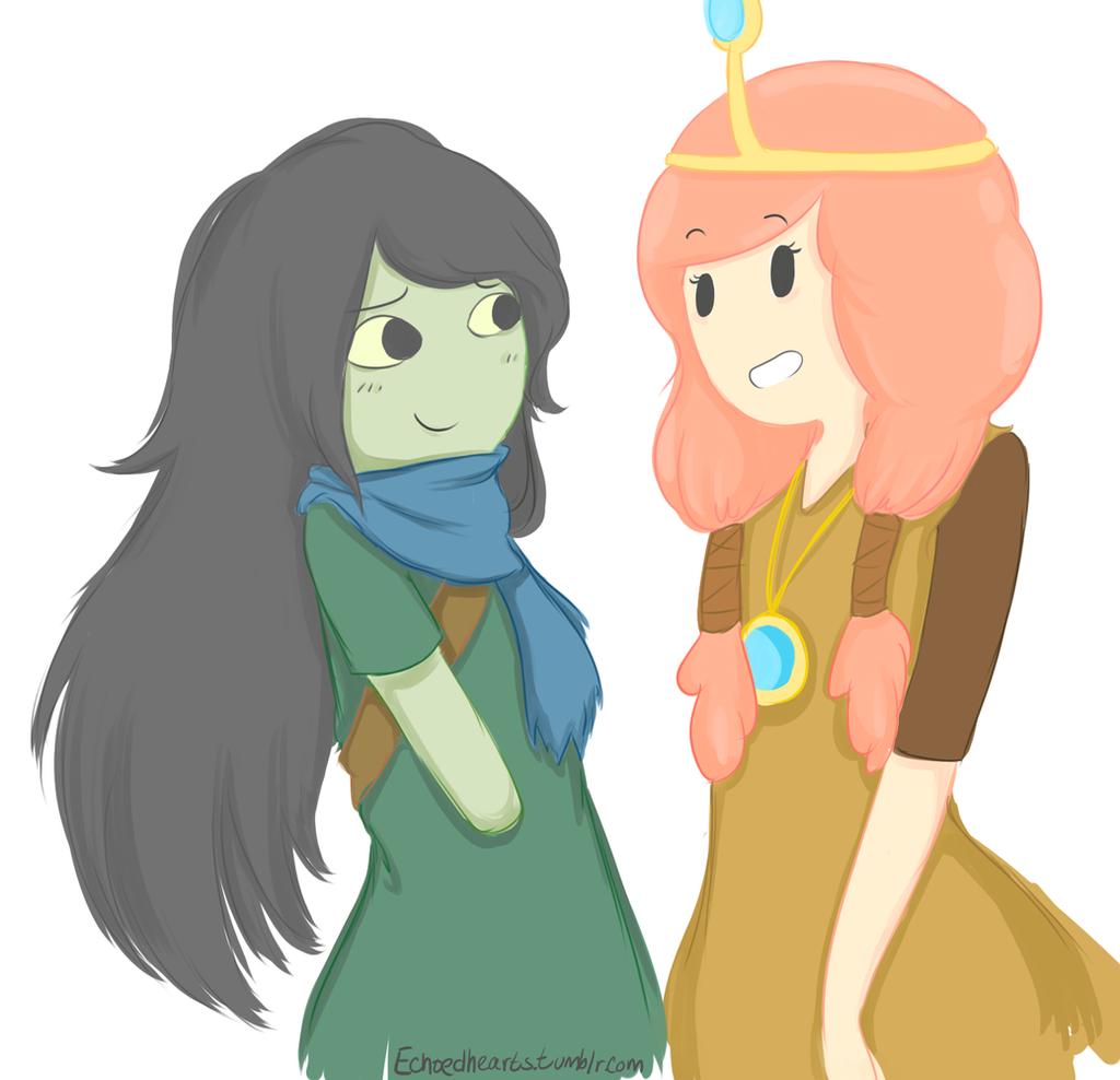 Shoko and Princess Bubblegum by EchoHearts