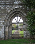 church ruins-doorway2 -stock