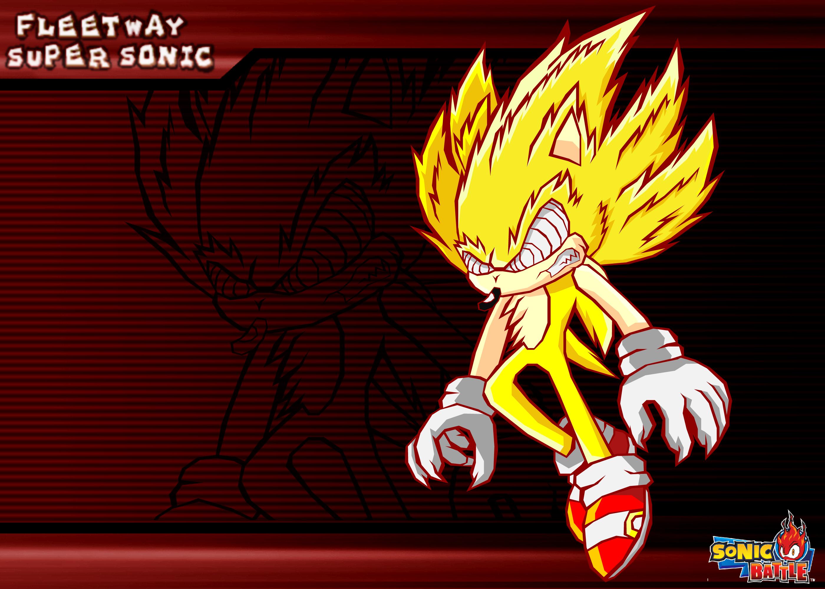 Fleetway Supersonic: Fleetway Super Sonic -Battle- By