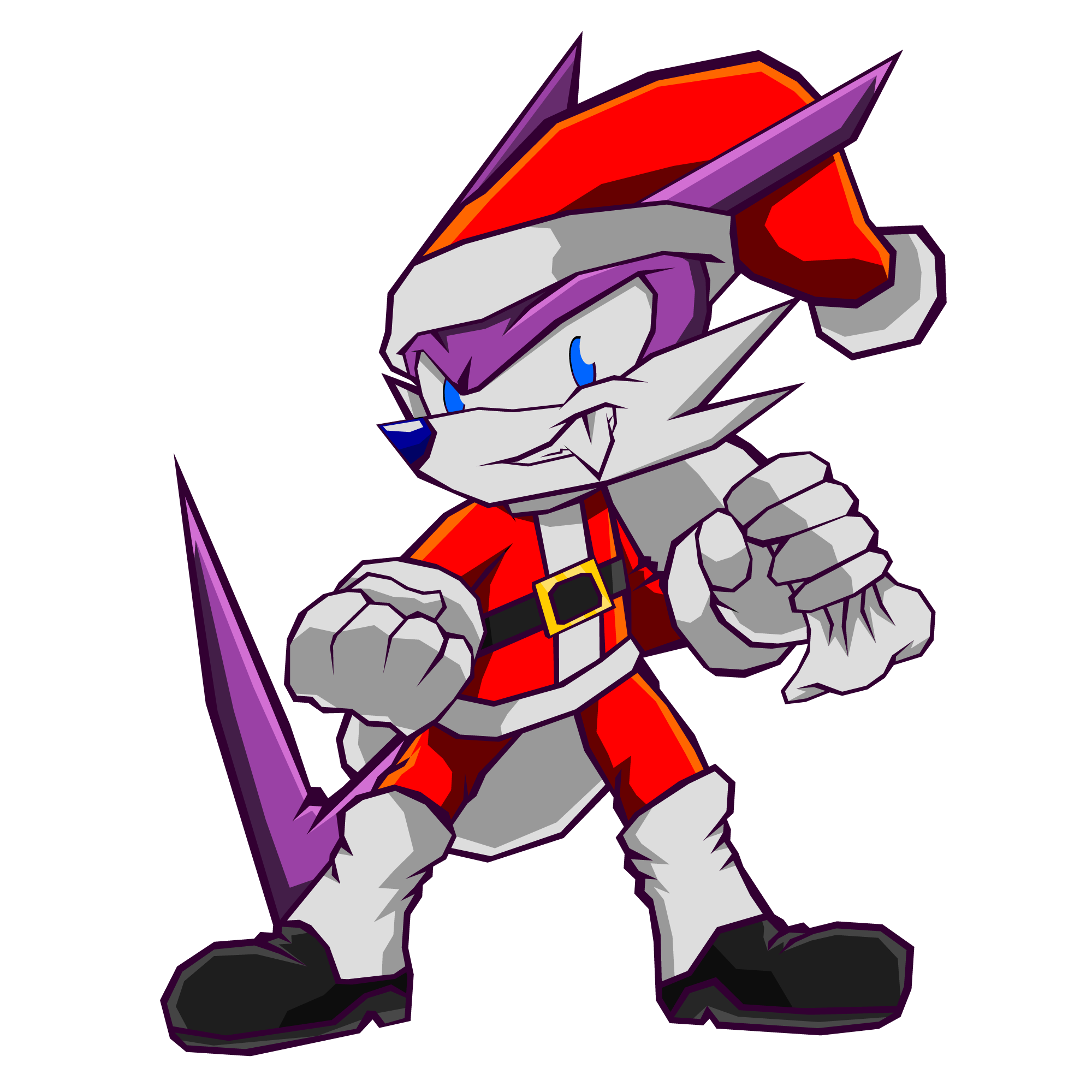 Christmas Fang - Sonic Battle by Cerberean on DeviantArt