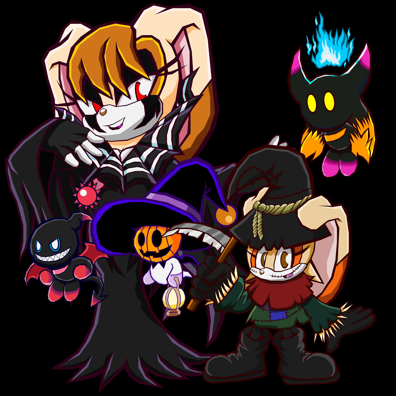 Halloween Cream and Vanilla - Sonic Battle by Cerberean