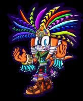 Dia De Los Muertos Tikal - Sonic Battle by Cerberean