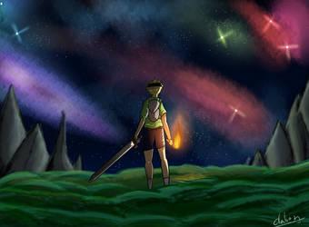 Night sky practice. by daburulambo