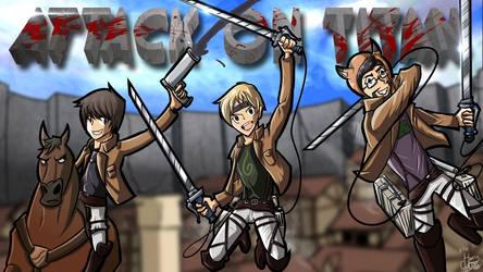Attack on Titan 2 (Martyn, Toby and SlyFoxHound) by daburulambo