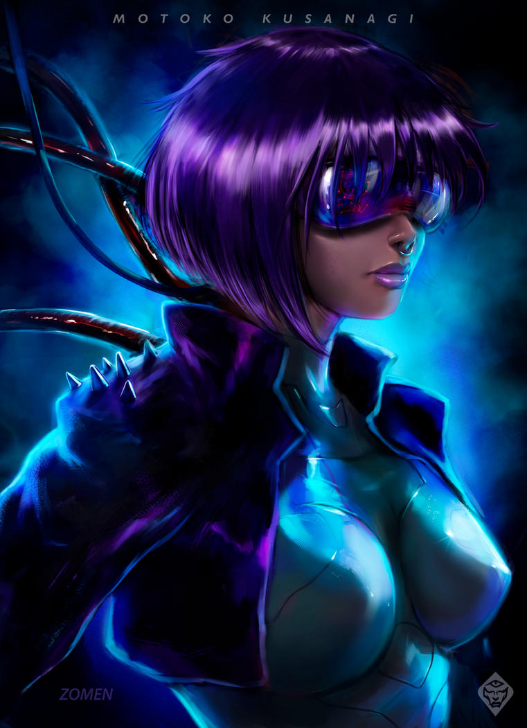 Motoko Kusanagi / Ghost in the shell by zomen-studio
