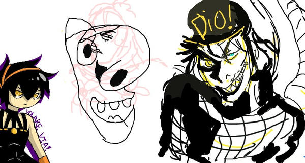 Iscribble and JJBA by BloodWolfGoth