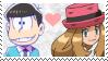 CrossPair Stamp: Osomatsu x Serena by Mochiettes-Stamps