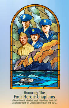 Honoring the 4 Chaplains - Stained Glass Design