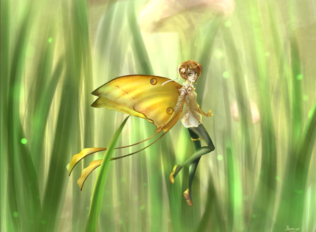 A little fairy in Phanoras by Hannusan