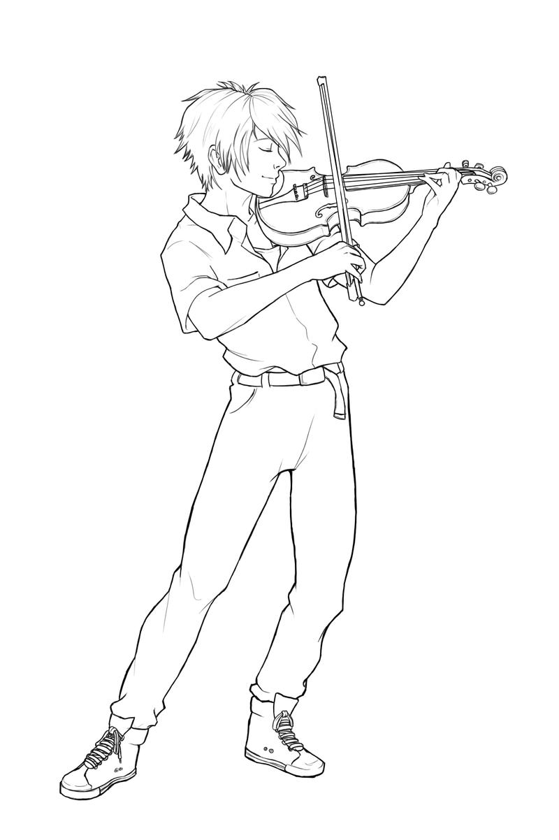kaworu nagisa violin by ekkimu