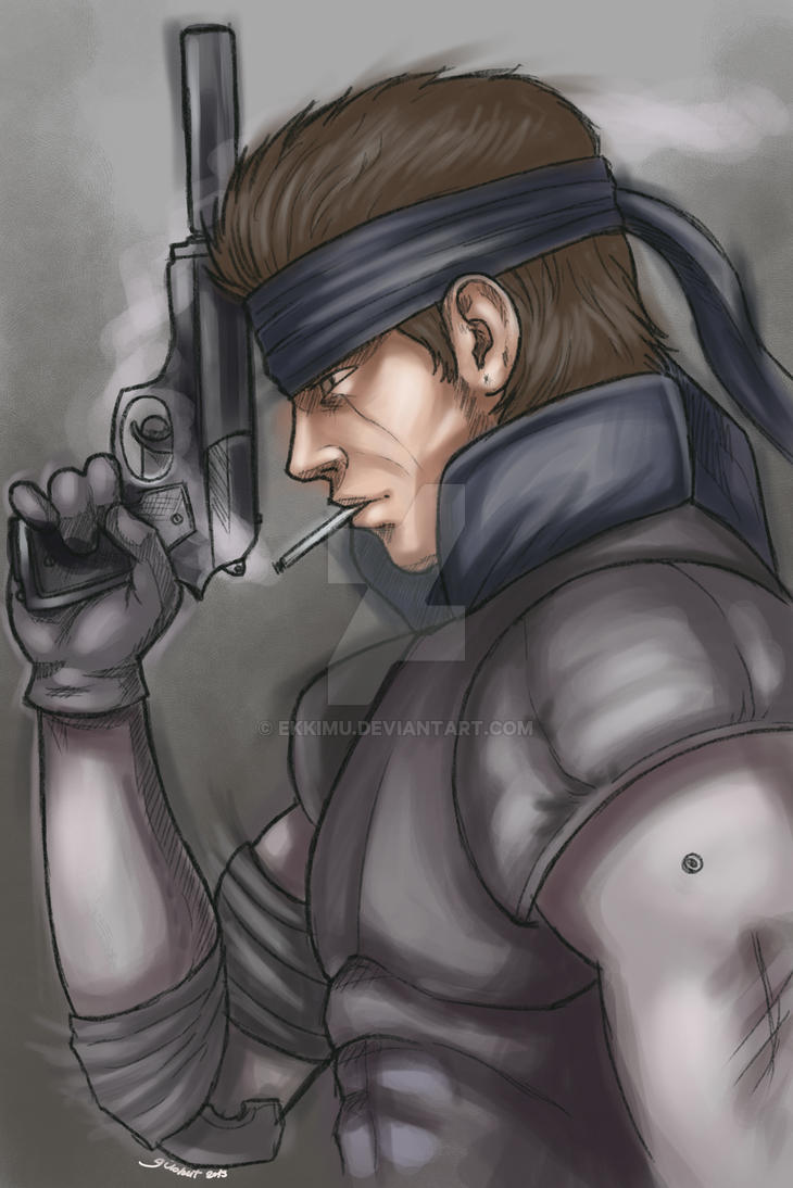 Solid Snake Metal Gear by ekkimu