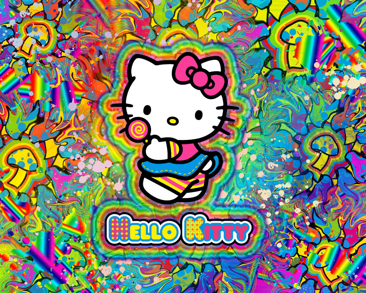 Hello Kitty is on Shrooms WP